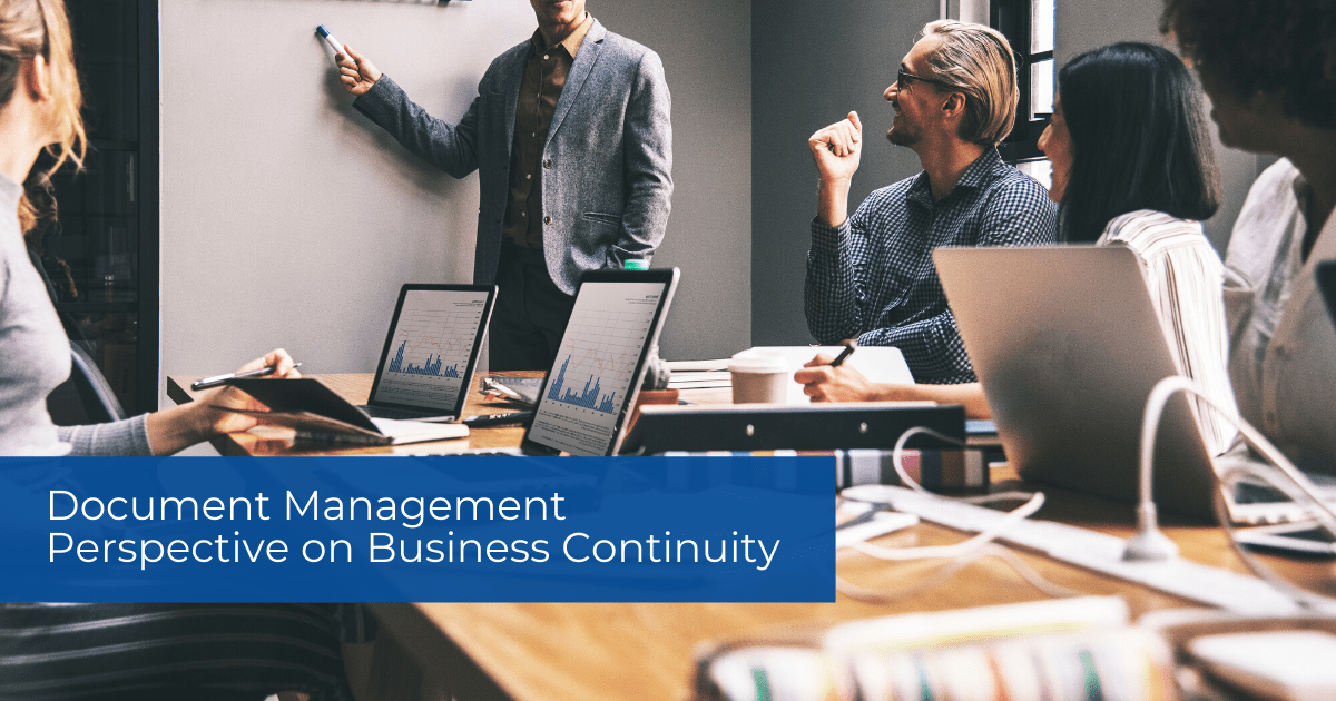 Document Management Perspective on Business Continuity